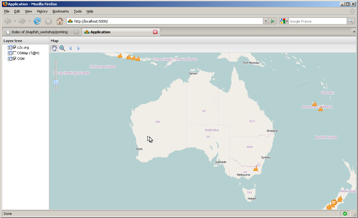 Module 3 - Customizing the Application — MapFish Tutorial v0